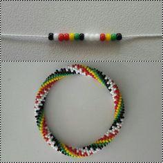 6 around bead crochet rope pattern