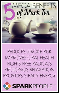 Black Tea Health Benefits via @SparkPeople