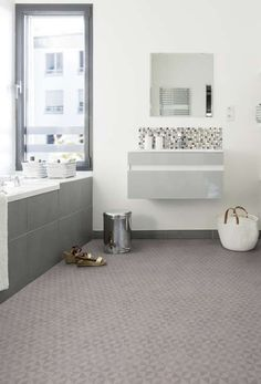 remodeling bathroom ideas diy is categorically important for your home. Whether you choose the small laundry room or serene bathroom, you will make the best small laundry room for your own life. Best Flooring, Flooring Options, Vinyl Flooring, Bathroom Flooring, Diy Bathroom Remodel, Bathroom Renovations, Bathroom Ideas, Serene Bathroom, Grey Clouds