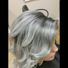 Stunning in silver. Hair via Colorful Hair, Gray Hair, Silver Hair, Hair Cuts, Hair Color, Haircuts, Grey Hair, Haircolor, Colored Hair