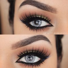 Fierce winged eyeliner and lush lashes