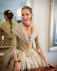 Image may contain: 1 person, standing 18th Century Dress, 18th Century Fashion, Folk Costume, Costumes, 1700s Dresses, Medieval Fashion, Fantasy Dress, Traditional Dresses, Daughter
