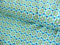 Stoffe gemustert - Baumwolljersey, Surprise Daisy Love green Jolijou - ein Designerstück von Rosenstoffe-Shop bei DaWanda Daisy Love, Shops, Designer, Etsy, Quilts, Blanket, Tents, Quilt Sets, Retail