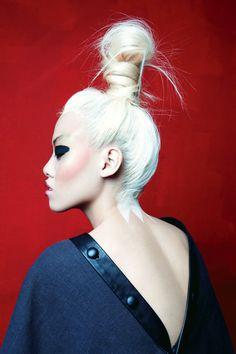 blond hair asian fashion photography