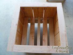 Pretty Front Porch: DIY Large Cedar Planter Boxes – Engineering A Home Diy Wooden Planters, Outdoor Planter Boxes, Planter Box Plans, Cedar Planter Box, Garden Planter Boxes, Wooden Diy, Planter Ideas, Outdoor Wood Projects, Wood Shop Projects