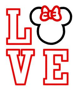 Love Mouse Applique Embroidery Design Instant by boutiquefonts Disney Diy, Disney Crafts, Disney Trips, Disney Love, T Shirt Yarn, T Shirt Diy, Vinyl Crafts, Vinyl Projects, One Direction Shirts