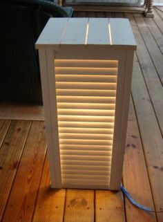 lighted shutter side table! (how-to)