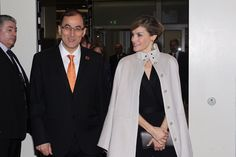 Queen Letizia and Princess Lalla Salma attended the World Cancer Congress in Paris Oct. 1, 2016