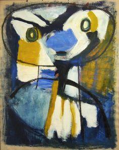 Great Surprise by Karel Appel (Dutch geabstraheerd gezicht primair. Charismatic Surprise by Karel A. Tachisme, Figure Painting, Painting & Drawing, Art Conceptual, Modern Art, Contemporary Art, Cobra Art, Art Informel, Art Brut