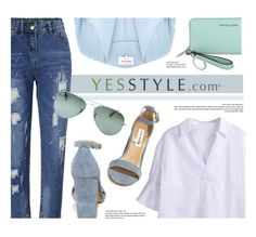 """""""YESSTYLE.com"""" by monmondefou ❤ liked on Polyvore featuring Sentubila, Steve Madden, River Island and Ray-Ban"""