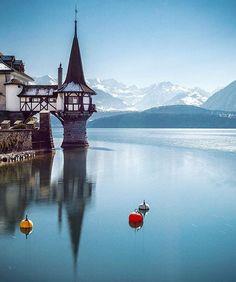 Oberhofen Castle Oberhofen,Switzerland  Via @beautifuldestinations