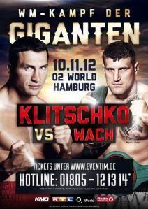 Fightcard Klitschko vs Wach 10.11.2012
