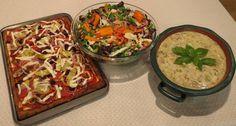 Pizza with cheesy sourdough crust, garden salad, potato soup, all recipes in Vila SpiderHawk's upcoming cookbooks