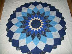Chris Jurd's Ancient Dahlia pattern in scrappy rainbow of Anna ... : dahlia quilts - Adamdwight.com