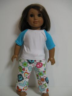 American Girl Doll   PJ Party  Silly Monsters by 123MULBERRYSTREET, $13.00