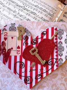 Valentine For Philip by born 2 b creative, via Flickr. Handmade keepsake for a loved one. Collaged heart craft.