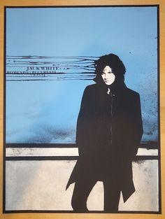 2014 Jack White - Bucharest Silkscreen Concert Poster by Rob Jones