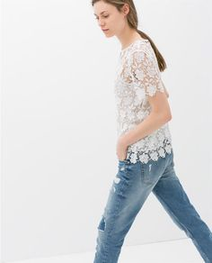 Image 2 of GUIPURE LACE TOP from Zara