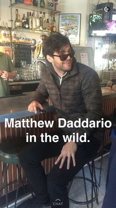 Look what I found... It's a Matthew Daddario in the wild!