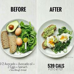 What weekends are made for = brunch 😍 easy 539 calorie recipe below. Have a g… What weekends are made for = brunch 😍 easy 539 calorie recipe below. Have a great weekend ❤️⭐️ —— 👉🏼 Ingredients; 1 medium slice of… Healthy Meal Prep, Healthy Snacks, Healthy Eating, Healthy Weight, Vegetarian Recipes, Cooking Recipes, Healthy Recipes, Simple Recipes, No Calorie Foods