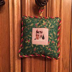 Very Tiny Sleigh/House Christmas Cross Stitch