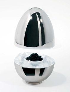 """White & Platinum """"Matroschischka & Matroschka"""" egg cups by Sieger by Fürstenberg"""