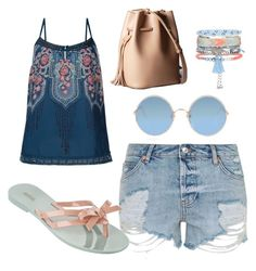 """""""Chill"""" by son9o on Polyvore featuring Topshop, Monsoon, Melissa, New Look and Sunday Somewhere"""