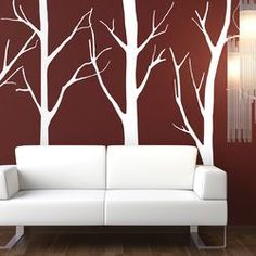 The Binary Box Tree Forest Wall Stickers 5 Piece Set | Wayfair UK