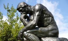The Thinker by Rodin one of the most famous statues of the world