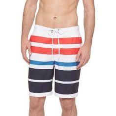 78f738e9a9 Men's Board Shorts Merona White Mens Swim Shorts, Man Swimming, Men's  Swimwear