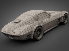 1965 grandsport corvette sports car 3d model max obj 3ds lwo lw lws 4