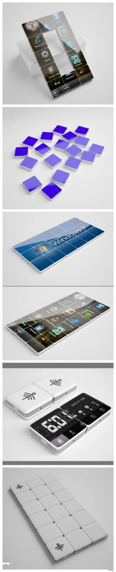 Creative cell phone with changeable sizes: Creative cell phone was designed by Kamil Izrailov.