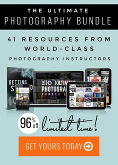 How to Go from Hobby Photographer to Professional Photographer with the Ultimate Bundle's The Ultimate Photography Bundle 2017.