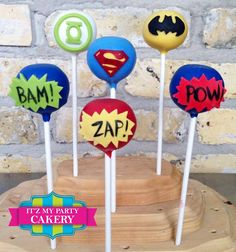 Super Hero Cake Pops  1 Dozen by ItzMyPartyCakery on Etsy