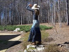 Skinny Hippie Blue Jean Skirt Spin | PaigesPeace | Flickr