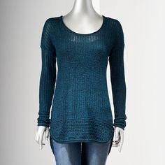 Simply Vera Vera Wang Marled Textured Sweater - Women's