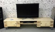Diy tv cabinet cabinet made with pallets photo pallet media console stand diy tv cabinet design