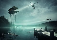 Olson Kundig And Jack Daws Imagine A House On Stilts Above A Polluted Lake - http://www.currentdecor.com/architecture/olson-kundig-and-jack-daws-imagine-a-house-on-stilts-above-a-polluted-lake/