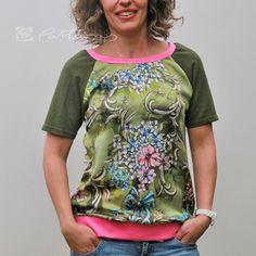 Schnittmuster für Blusenshirt zum Sofortdownload. Auch für Anfänger. Sewing Shirts, Shirt Blouses, T Shirt, Clothing Patterns, Embroidery, Tank Tops, Sweaters, Clothes, Women