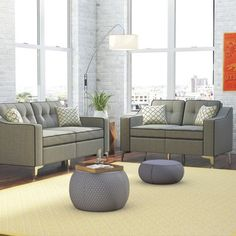 Seek for Fleek 2 Piece Living Room Set Living Room Seating, Living Room Sets, Living Room Chairs, Living Room Designs, Living Room Decor, Living Spaces, Living Room Furniture Sets, Elegant Living Room, Elegant Home Decor