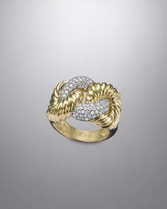 Cordelia Ring, Pave Diamond by David Yurman at Neiman Marcus.