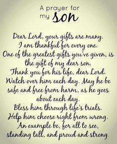 A Prayer For My Son James Elvis (Jimmy)