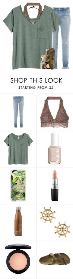 """listening to throwback one direction songs "" by madelinelurene ❤ liked on Polyvore featuring Marc by Marc Jacobs, Essie, Casetify, MAC Cosmetics, West Elm, Sperry and Birkenstock"