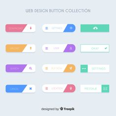 Web design button collection Free Vector - Your Finance Assistant 2019 Free Web Design, Web Design Tips, Web Design Tutorials, App Ui Design, Mobile App Design, Web Design Company, Interface Design, Simple Web Design, Mobile Web