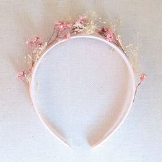 blush dried floral headpiece