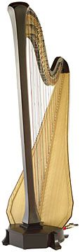 This is the harp I have, except I have a rustic gold crown on top! It looks like the corona of the sun.