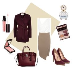 """""""Maroon"""" by lotsolove-1 on Polyvore featuring Miss Selfridge, River Island, Michael Kors, Charlotte Tilbury, Laura Mercier, Jouer and Marc Jacobs"""