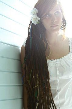 Long lovely dreads worn down