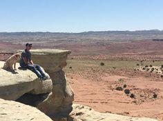 Daniel and Mango <3 <3 <3 <3 #RoadTrip #Utah #Friends Credit: Daniel on IG <3