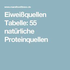 Eiweißquellen Tabelle: 55 natürliche Proteinquellen